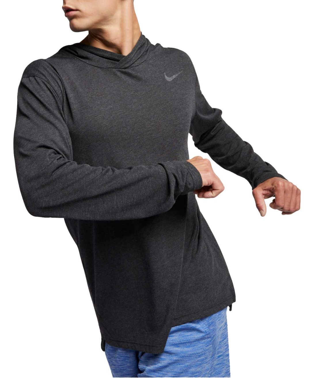 Nike Men's Hyper Dry Hooded Long Sleeve Shirt (Regular and Big & Tall)