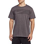 Nike Men's Hyper Dry Graphic Tee in Dk Grey Heather/Black