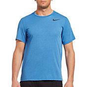 Nike Men's Hyper Dry Tee in LT GAME RYL HTR/BLACK