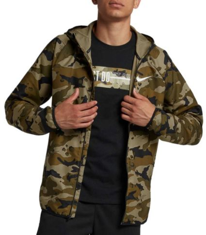 f7435c2224053 Nike Men's Dry Woven Camo Training Jacket | DICK'S Sporting Goods