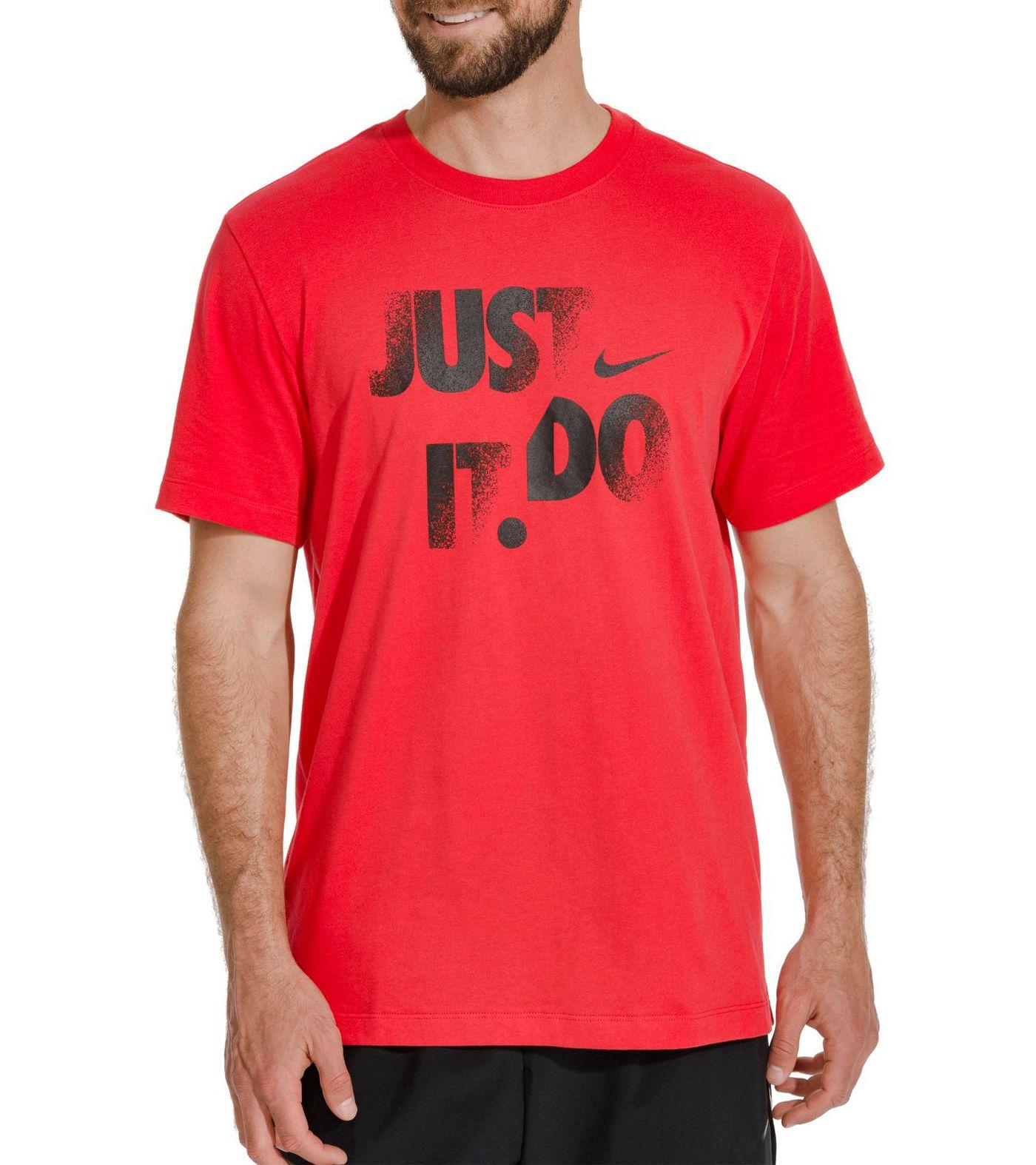 Nike Men's Dri-FIT Cotton Just Do It Graphic T-Shirt