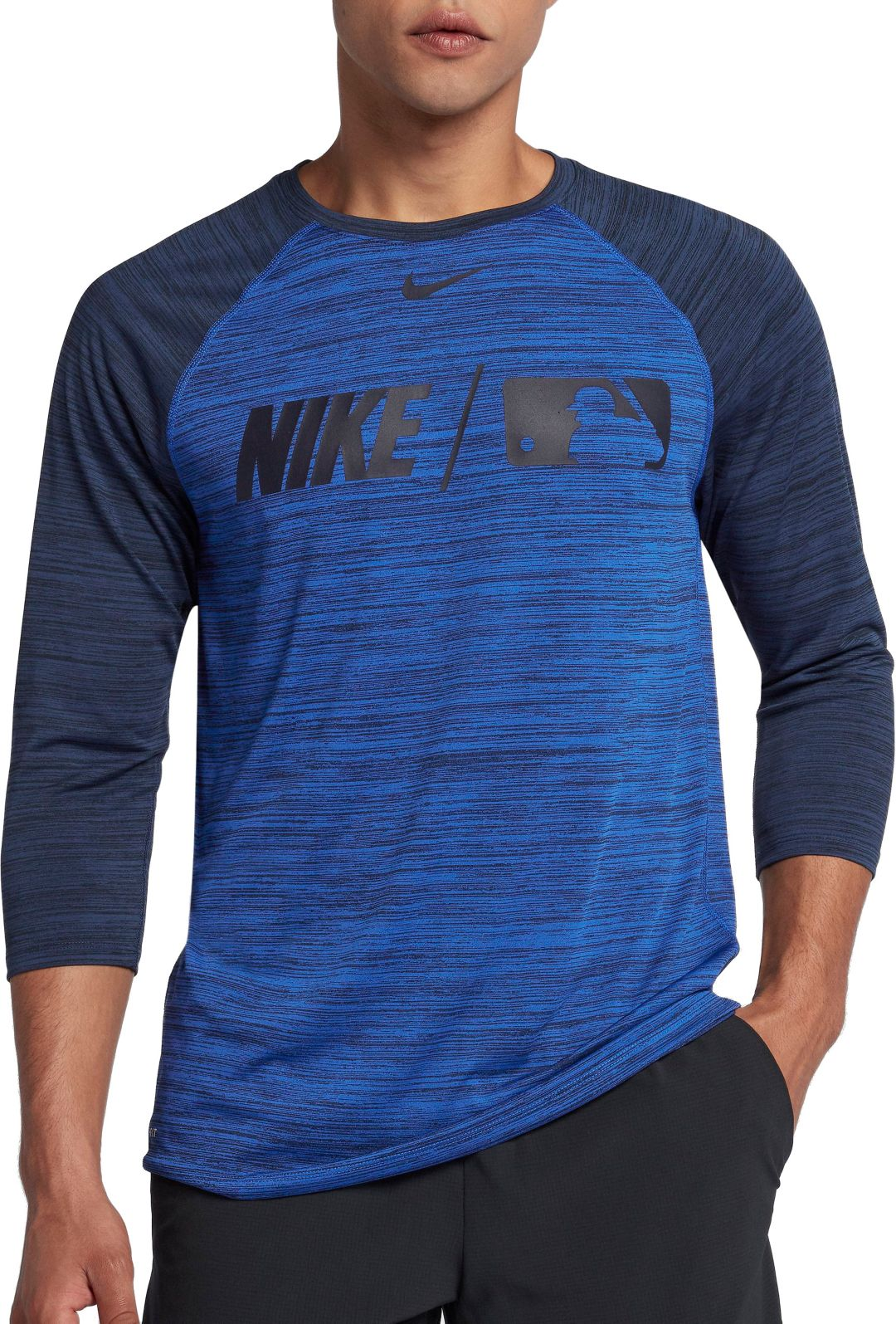 size 40 c9965 d59f1 Nike Men's Dry MLB 3/4 Sleeve Baseball T-Shirt
