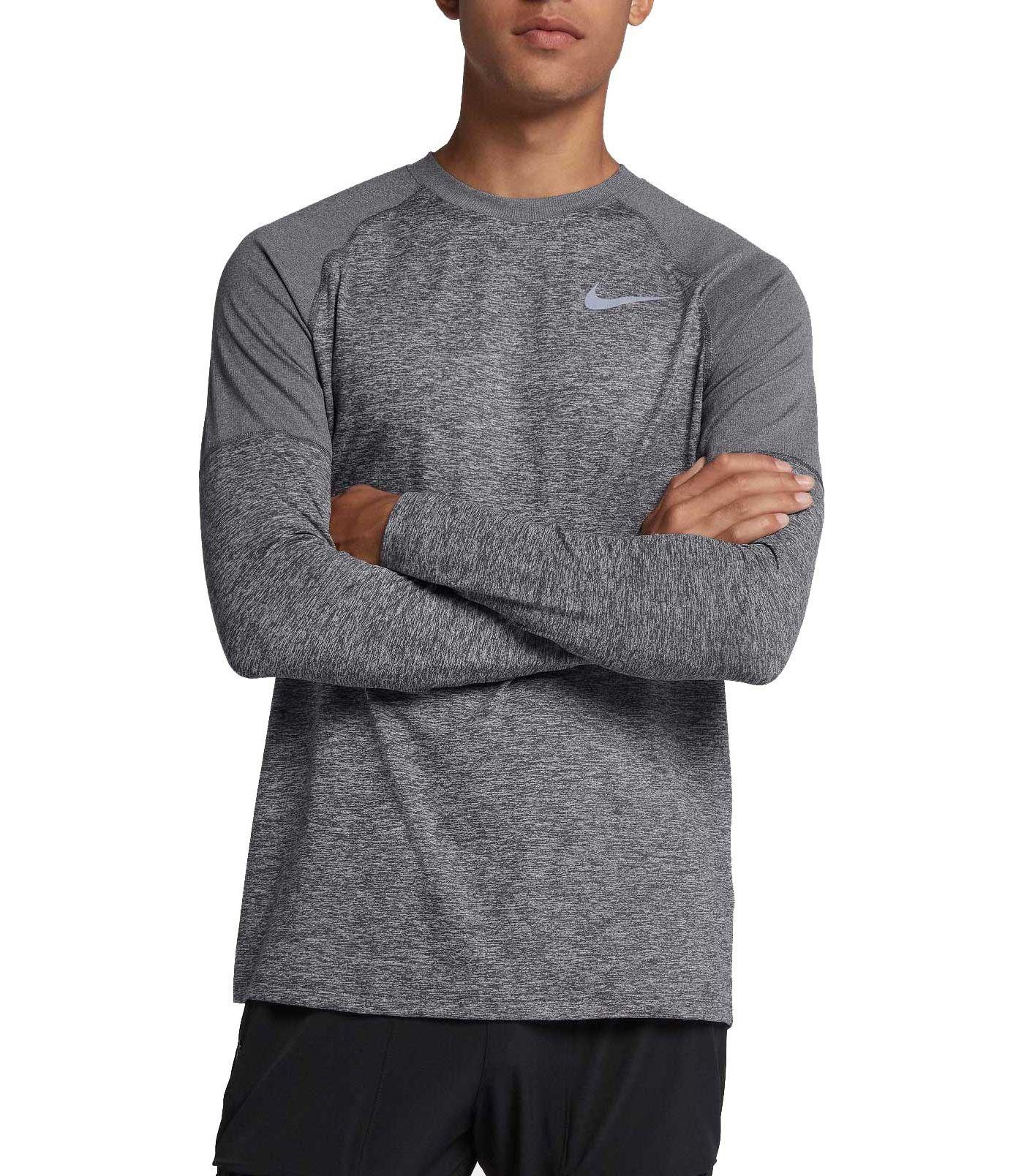 Nike Men's Element Crew Running Long Sleeve Tee