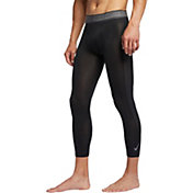 Nike Men's Pro 3/4 Length Compression Tights in Black/Dark Grey