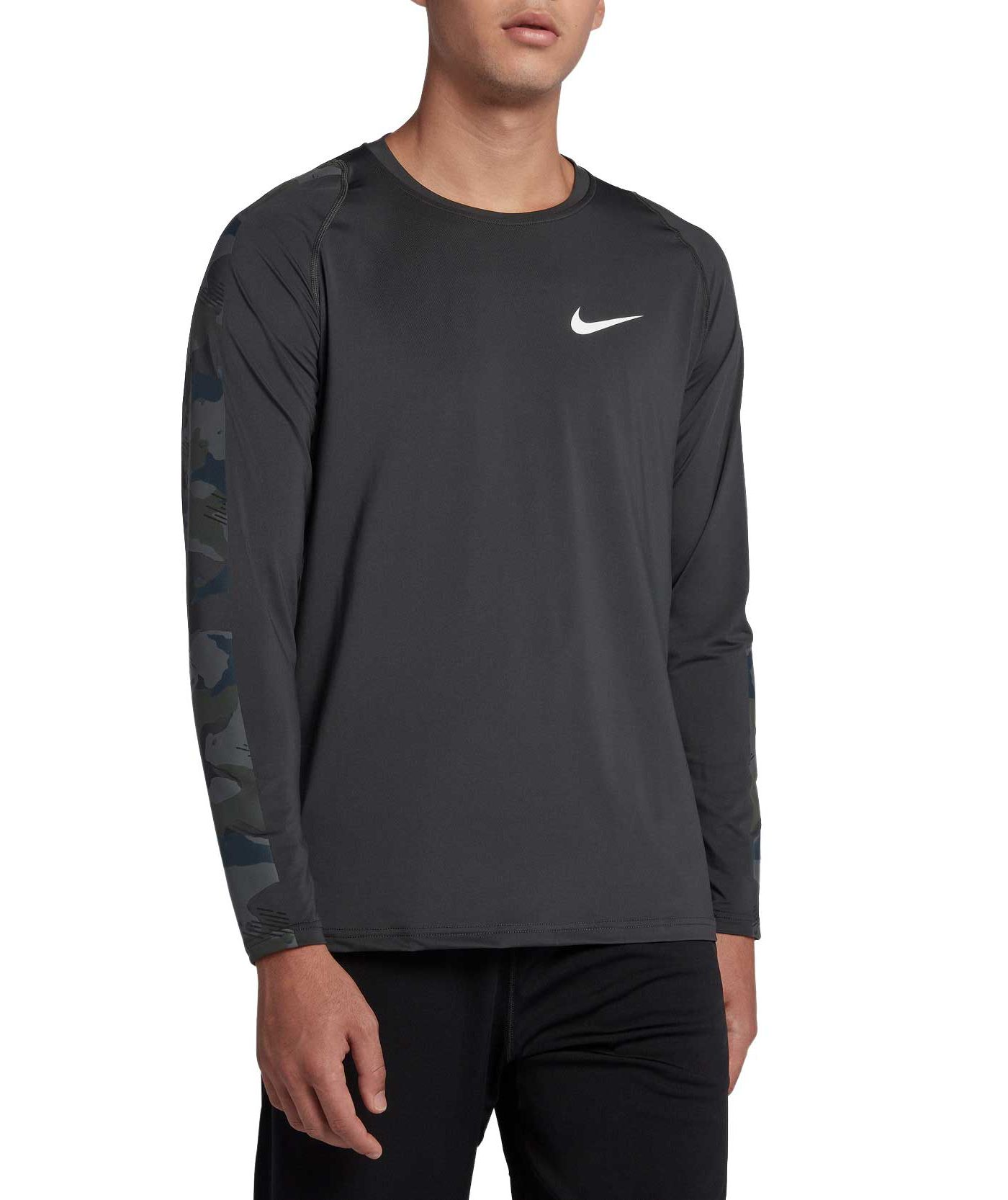 Nike Men's Pro Fitted Camo Long Sleeve Training Tee