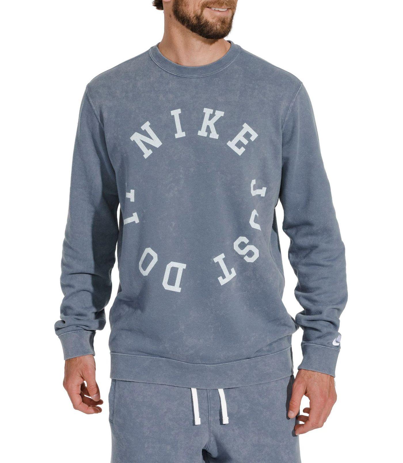 Nike Men's Sportswear French Terry Wash Long Sleeve Tee