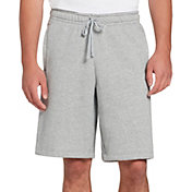 Nike Men's Sportswear Just Do It Fleece Shorts in Dk Grey Heather/Dk Grey