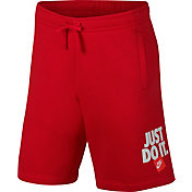 Nike Men's Sportswear Just Do It Fleece Shorts in University Red