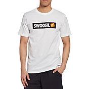 Nike Men's Sportswear Swoosh Bumper Sticker Graphic Tee