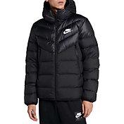 Nike Men's Sportswear Windrunner Down Jacket in Black/White