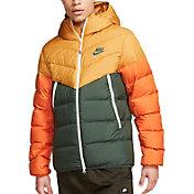 Nike Men's Sportswear Windrunner Down Jacket in Gold Suede