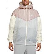 Nike Men's Sportswear 2019 Hooded Windrunner Jacket (Regular and Big & Tall) in Lt Smoke Grey