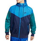 Nike Men's Sportswear 2019 Hooded Windrunner Jacket in Midnight Navy/Battle Blue