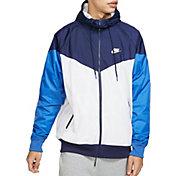 Nike Men's Sportswear 2019 Hooded Windrunner Jacket in Summit Wte/Mdnght Nvy/Wte
