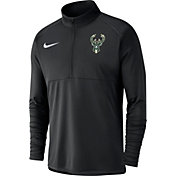 Nike Men's Milwaukee Bucks Dri-FIT Element Half-Zip Pullover