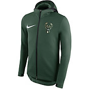Nike Men's Milwaukee Bucks On-Court Therma Flex Showtime Full-Zip Hoodie