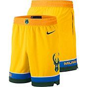 Nike Men's Milwaukee Bucks Dri-FIT City Edition Swingman Shorts