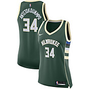 Nike Women's Milwaukee Bucks Giannis Antetokounmpo #34 Green Dri-FIT Swingman Jersey