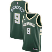 7084b641f Nike Men s Milwaukee Bucks Donte DiVincenzo  9 Green Dri-FIT Swingman Jersey
