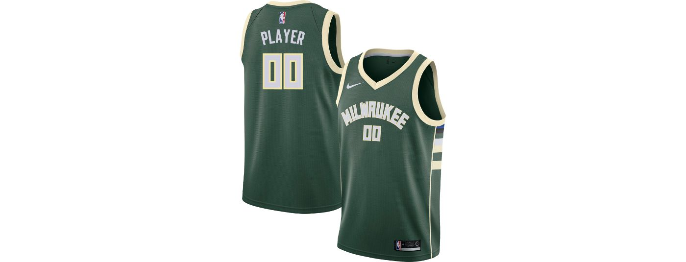 Nike Men's Full Roster Milwaukee Bucks Green Dri-FIT Swingman Jersey