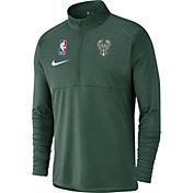Nike Men's Milwaukee Bucks Dri-FIT Element Half-Zip Pullover