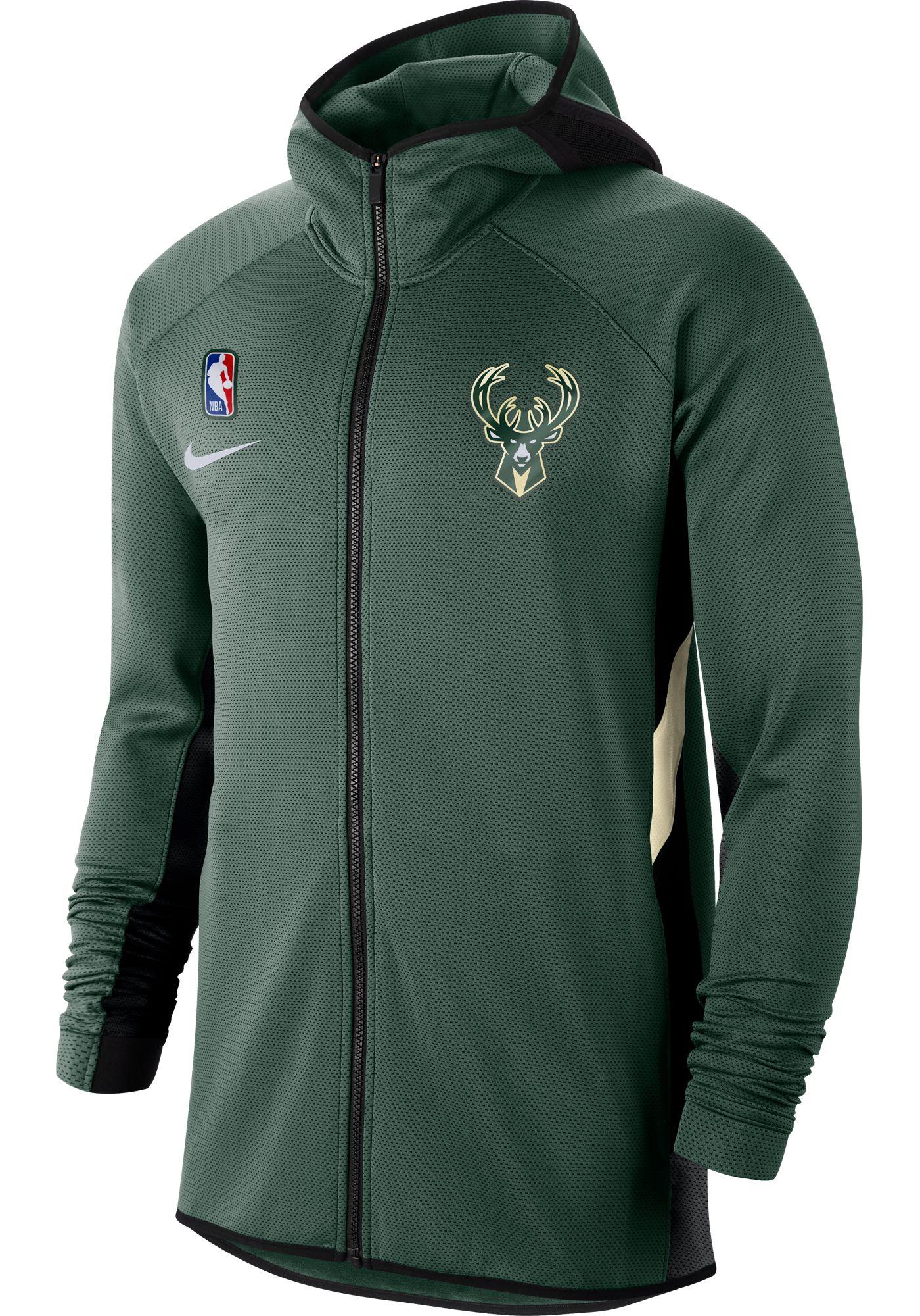 Nike Men's Milwaukee Bucks On-Court Therma Flex Showtime Full-Zip Hoodie