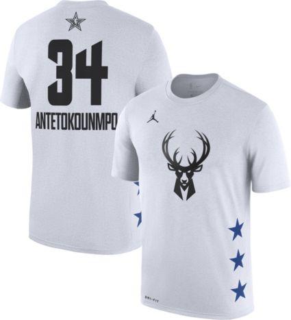 Jordan Men s 2019 NBA All-Star Game Giannis Antetokounmpo Dri-FIT White  T-Shirt. noImageFound 4d513c61c