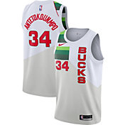 Nike Men's Milwaukee Bucks Giannis Antetokounmpo Dri-FIT Earned Edition Swingman Jersey