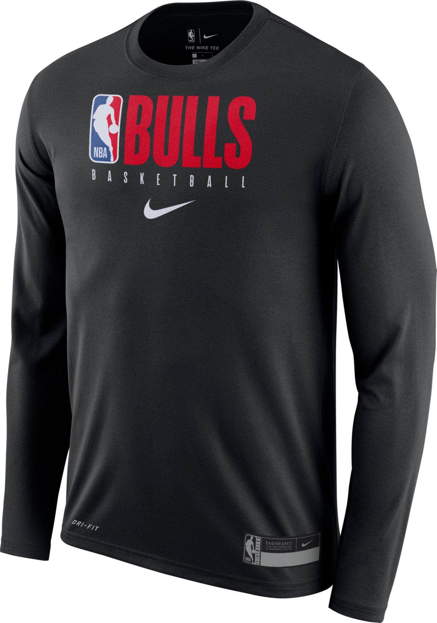 Nike Men's Chicago Bulls Dri-FIT Practice Long Sleeve Shirt
