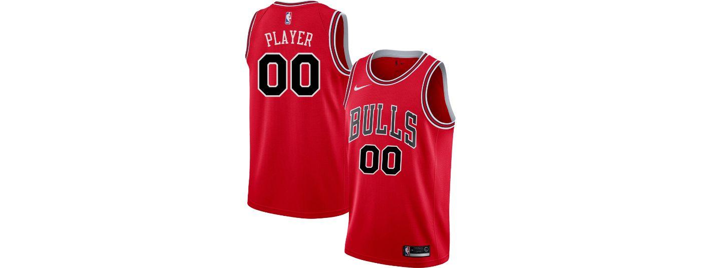 Nike Men's Full Roster Chicago Bulls Red Dri-FIT Swingman Jersey