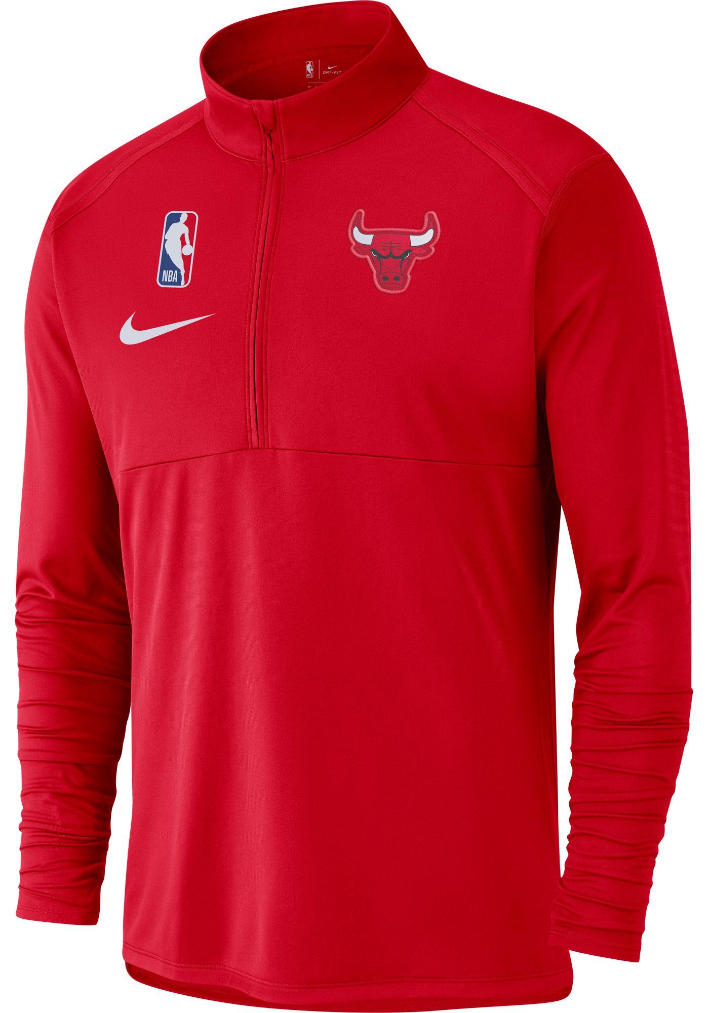 Nike Men's Chicago Bulls Dri-FIT Element Half-Zip Pullover