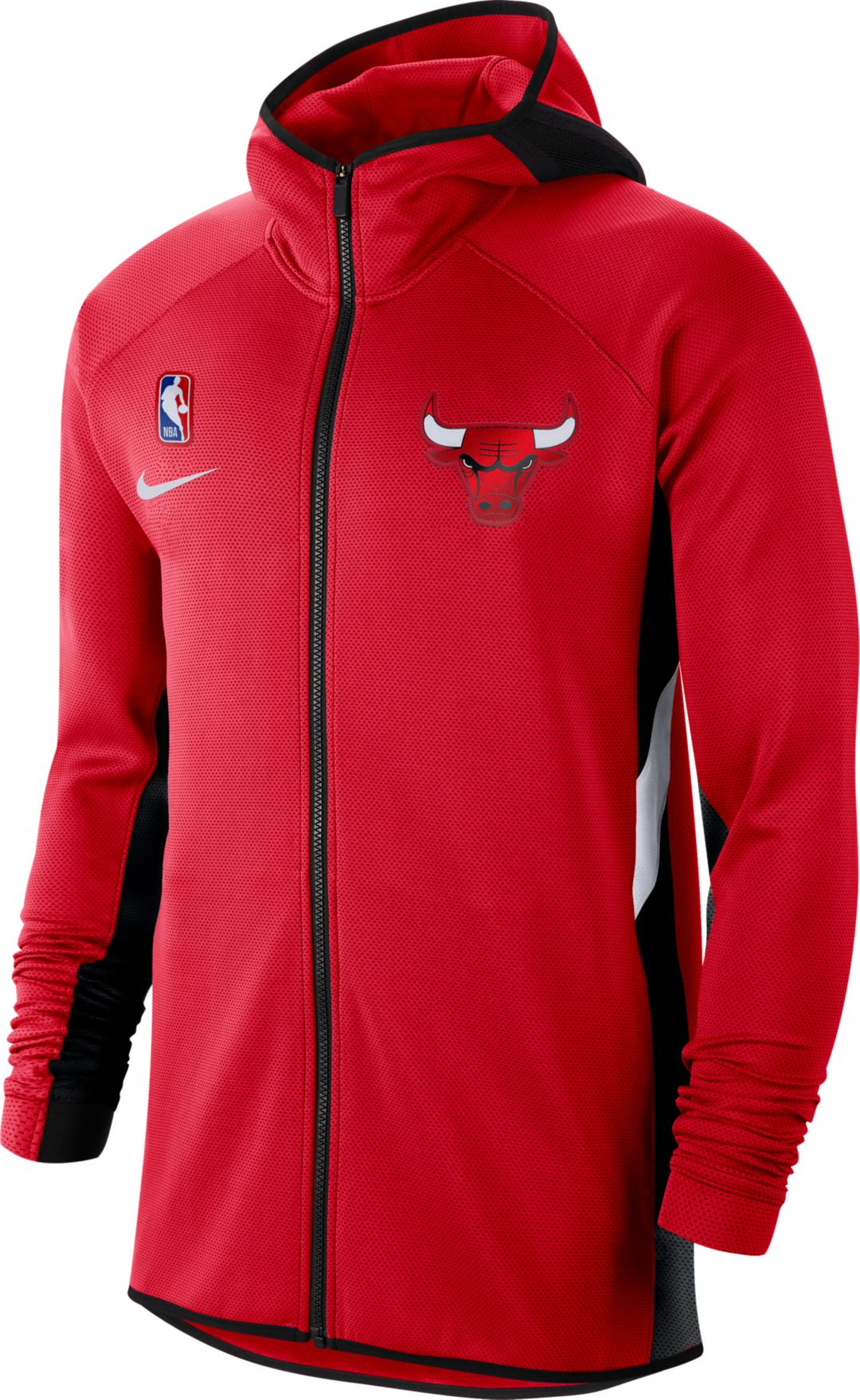 Nike Youth Chicago Bulls On Court Therma Flex Showtime Full Zip Hoodie