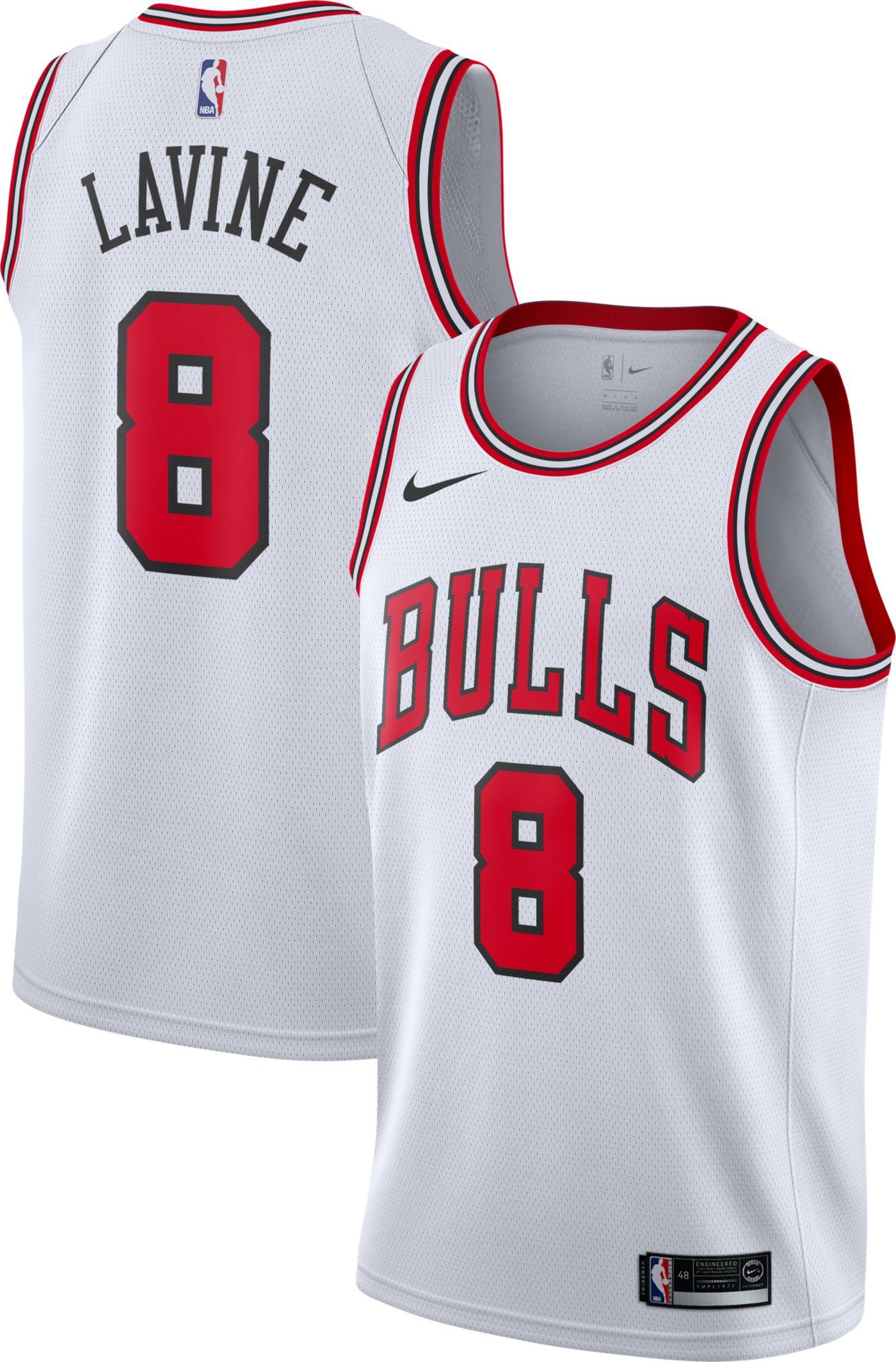 Nike Men's Chicago Bulls Zach LaVine #8 White Dri-FIT Swingman Jersey