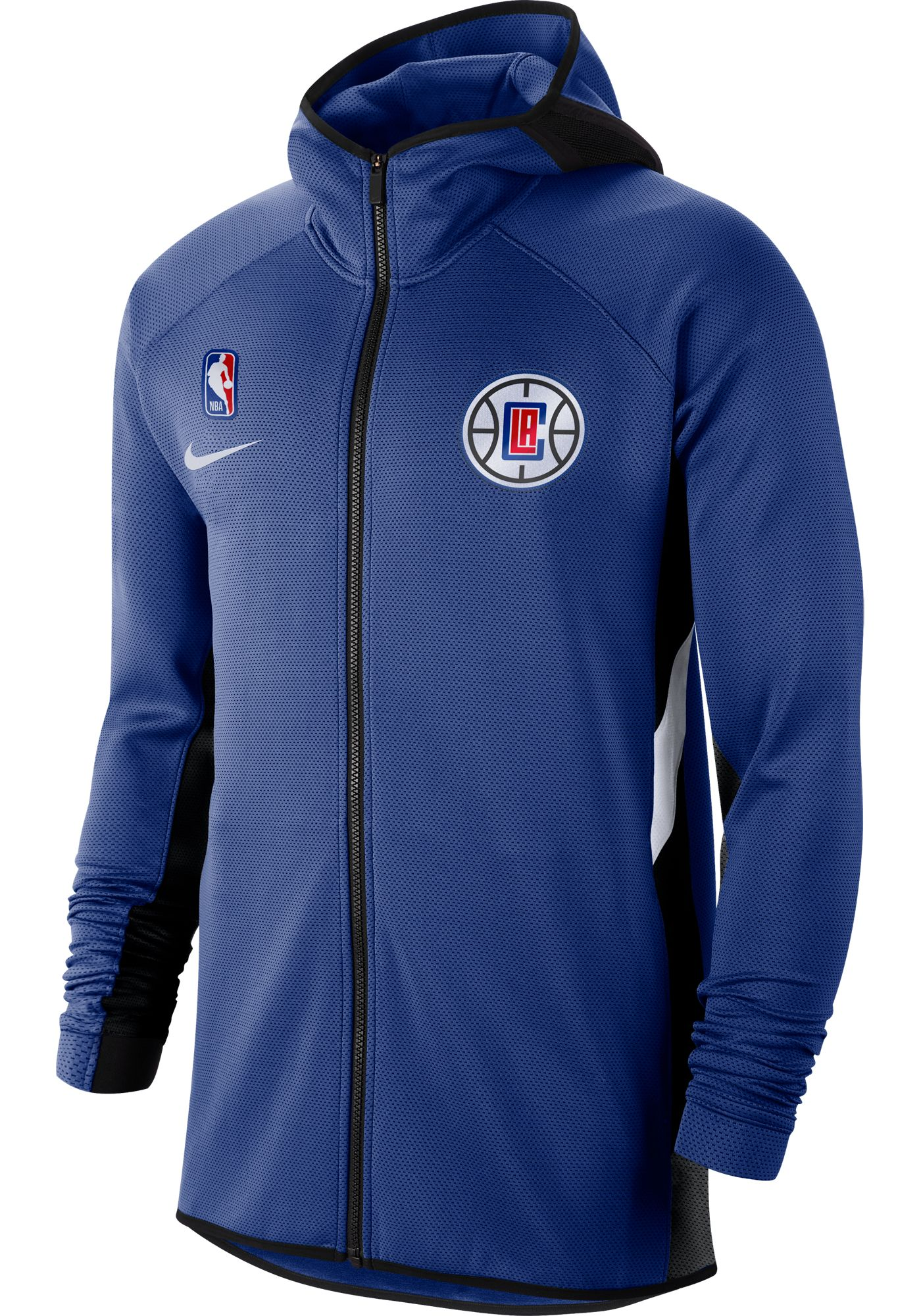Nike Men's Los Angeles Clippers On-Court Therma Flex Showtime Full-Zip Hoodie