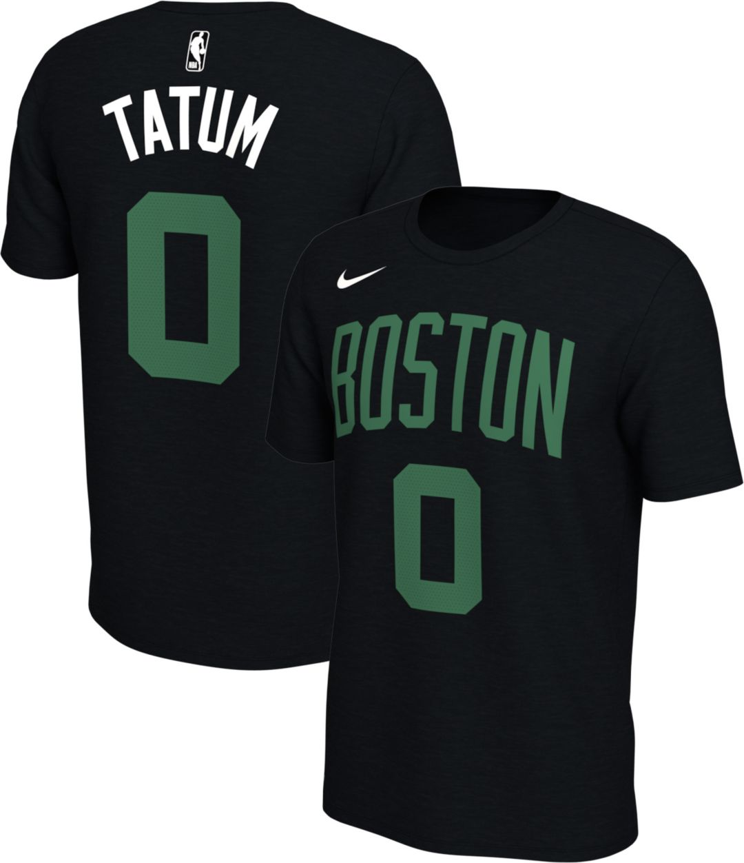 new style 24b03 5b731 Nike Men's Boston Celtics Jayson Tatum #0 Dri-FIT Black T-Shirt