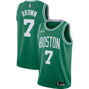 Nike Men's Boston Celtics Jaylen Brown #7 Kelly Green Dri-FIT Swingman Jersey