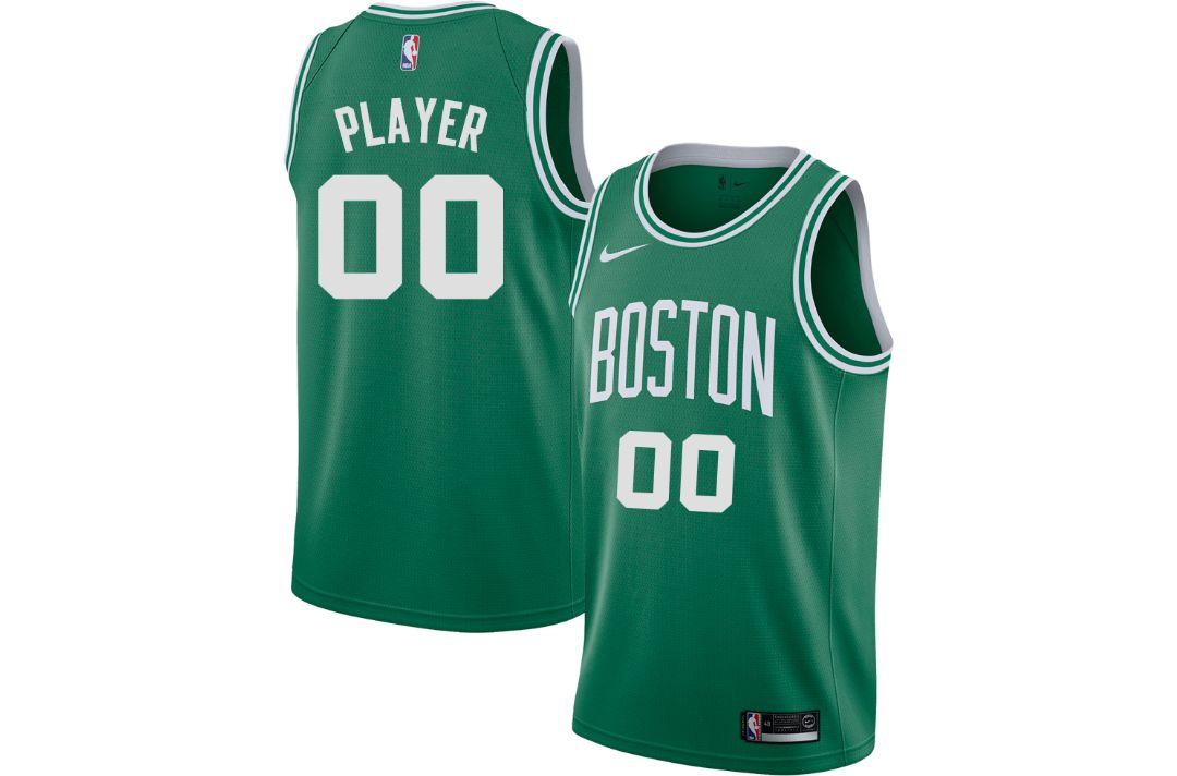 sale retailer 98d52 243b3 Nike Men's Full Roster Boston Celtics Kelly Green Dri-FIT Swingman Jersey