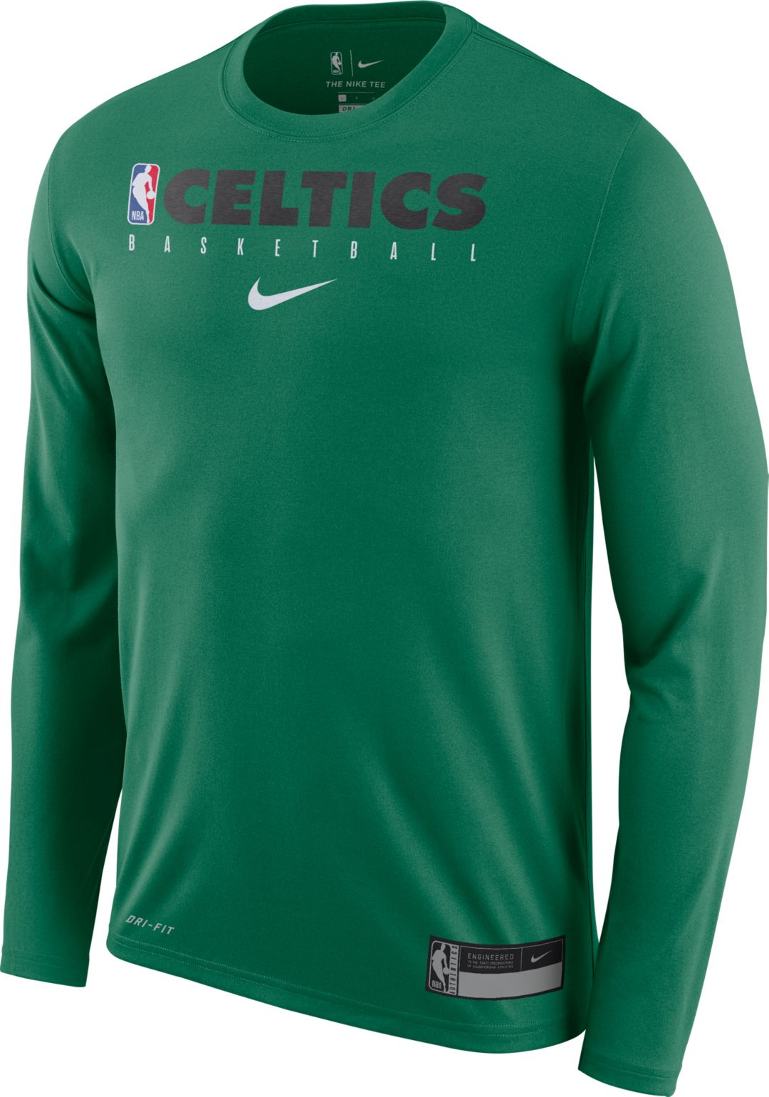 separation shoes 30069 cc041 Nike Men's Boston Celtics Dri-FIT Practice Long Sleeve Shirt
