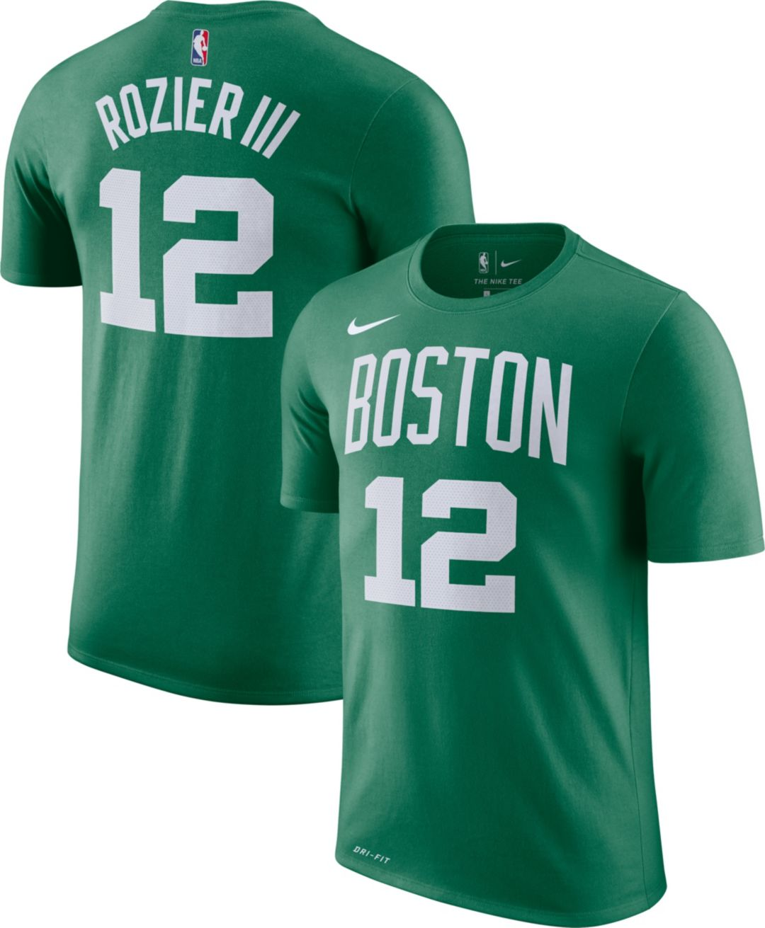 online store c6624 b8ebe Nike Men's Boston Celtics Terry Rozier #12 Dri-FIT Kelly Green T-Shirt