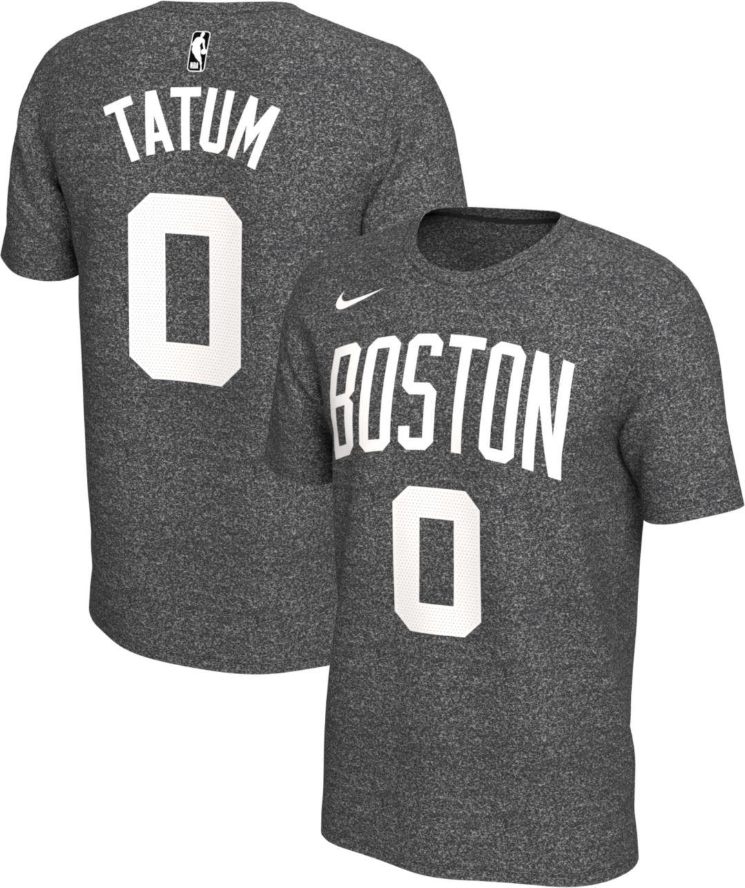 best website c8453 df8ce Nike Men's Boston Celtics Jayson Tatum #0 Dri-FIT Grey T-Shirt