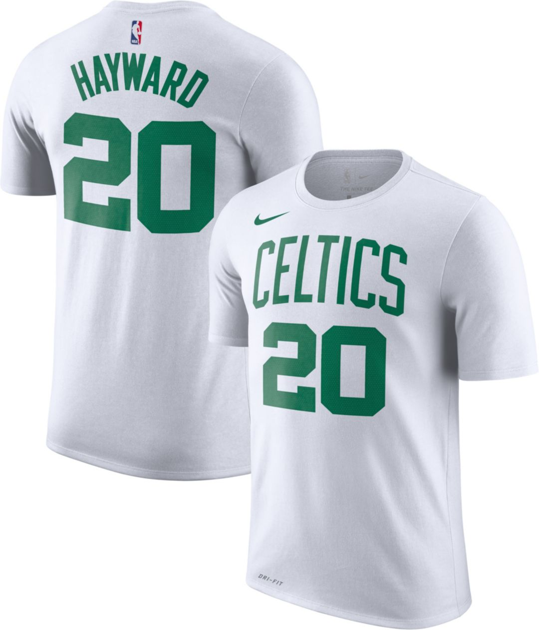 online store 21c4c 10307 Nike Men's Boston Celtics Gordon Hayward #20 Dri-FIT White T-Shirt