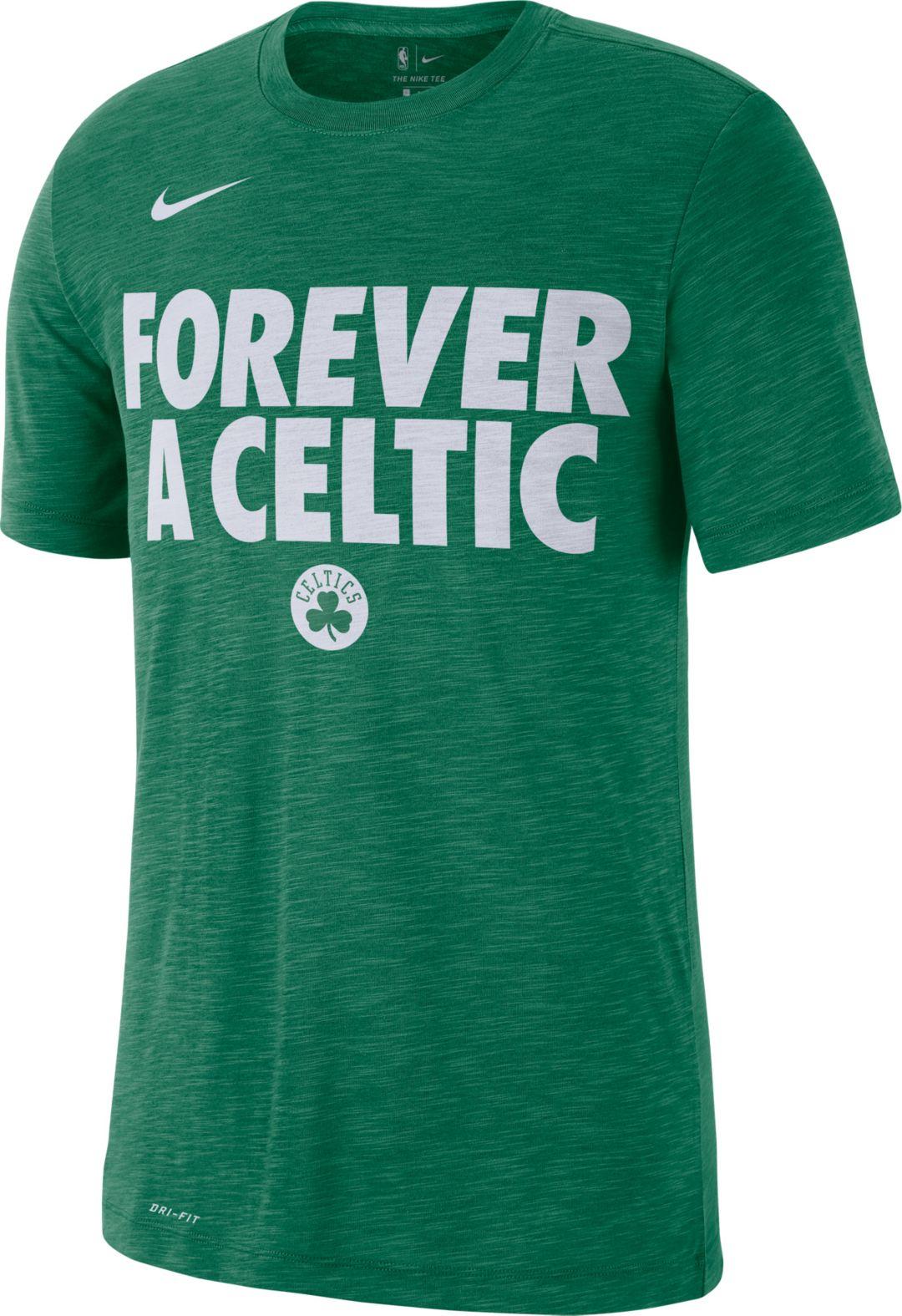 """huge discount b4c40 36b63 Nike Men's Boston Celtics Dri-FIT """"Forever A Celtic"""" T-Shirt"""