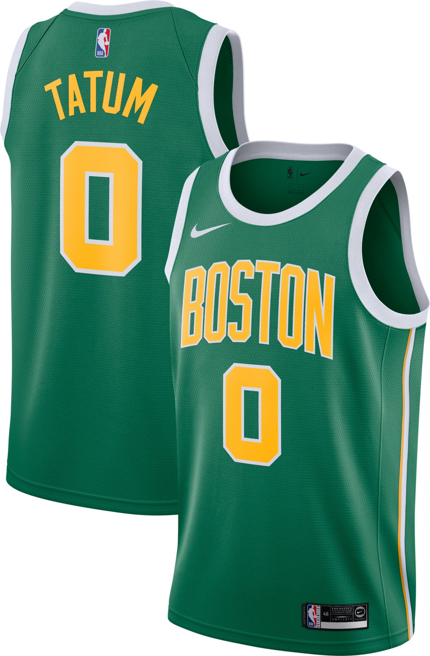 Nike Men's Boston Celtics Jayson Tatum Dri-FIT Earned Edition Swingman Jersey