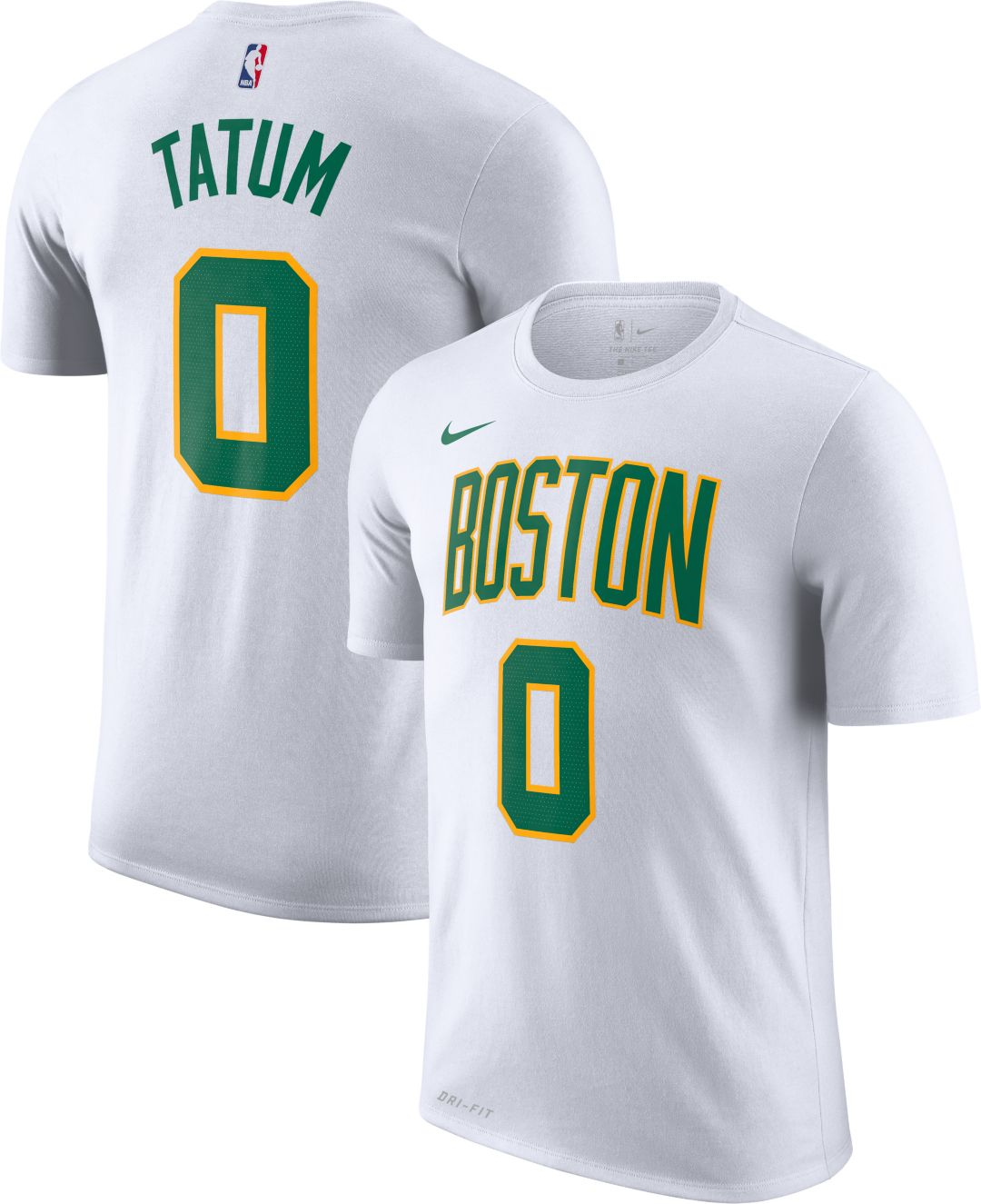 ed1630fd9b9 Nike Men's Boston Celtics Jayson Tatum Dri-FIT City Edition T-Shirt ...