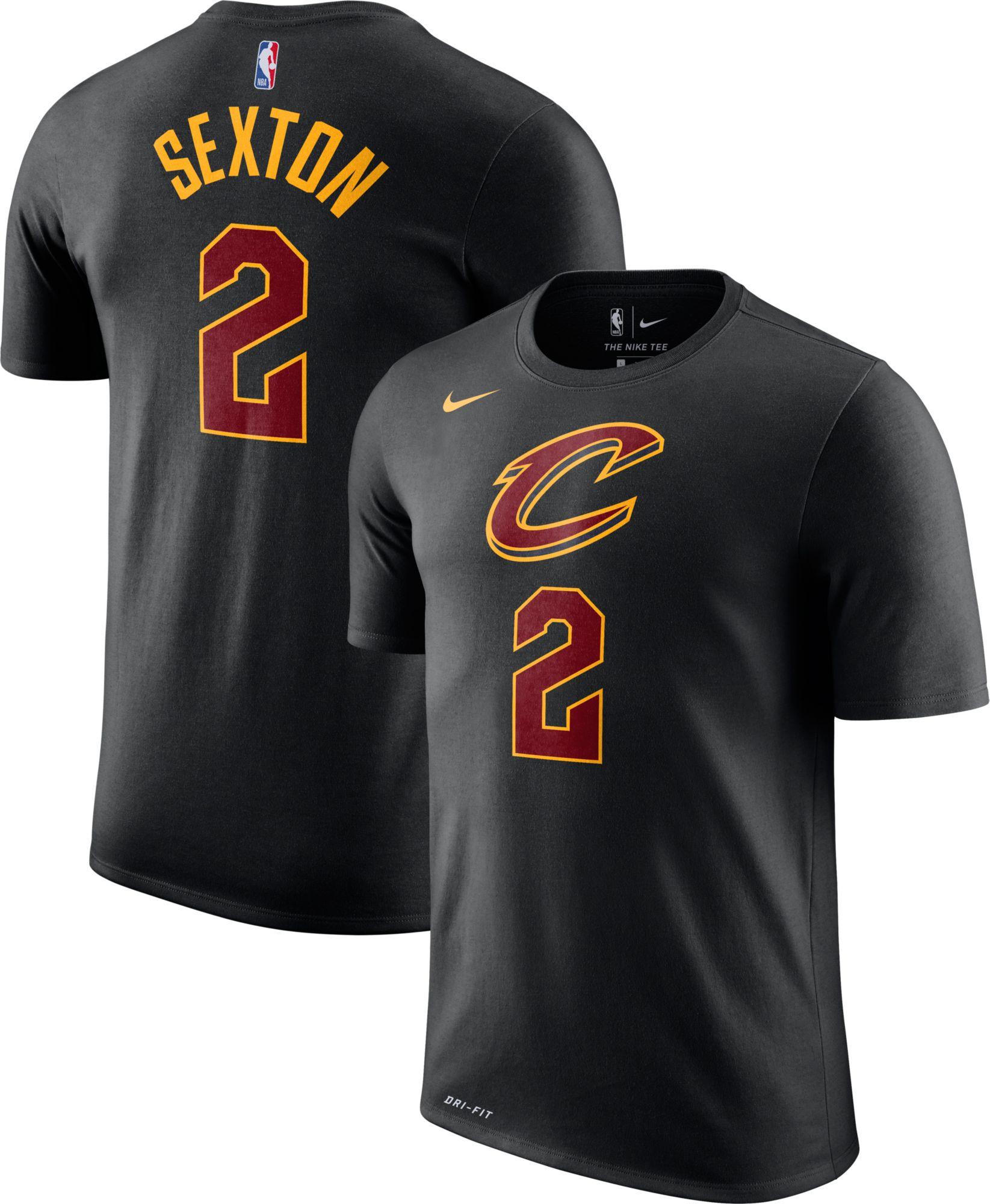 f81d726d3 Nike Men s Cleveland Cavaliers Collin Sexton  2 Dri-FIT Black T ...