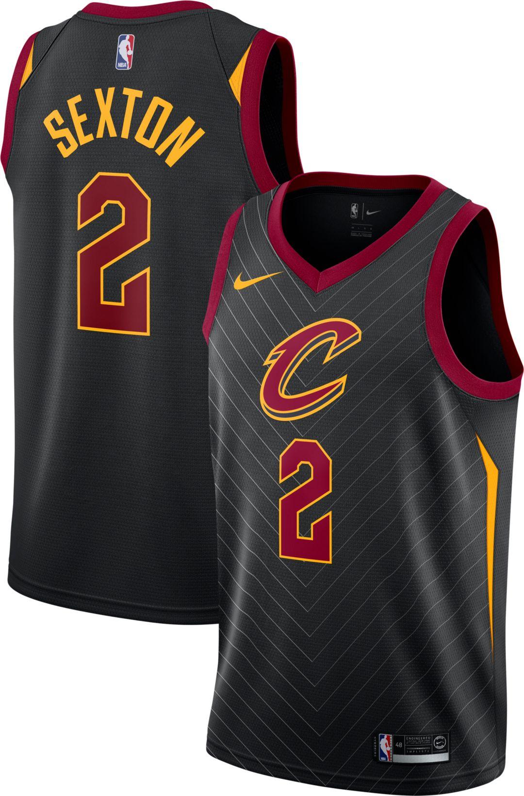 best loved 63736 ee601 Nike Men's Cleveland Cavaliers Collin Sexton #2 Black Dri-FIT Swingman  Jersey
