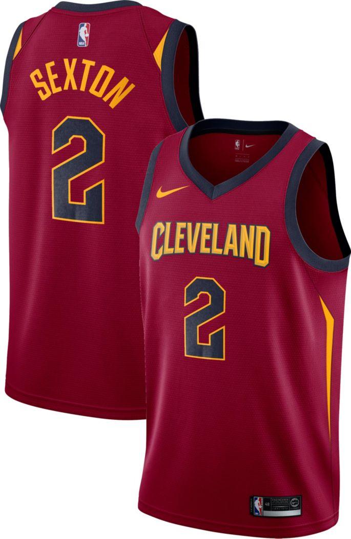 best cheap 6b9ce 138c2 Nike Men's Cleveland Cavaliers Collin Sexton #2 Burgundy Dri-FIT Swingman  Jersey