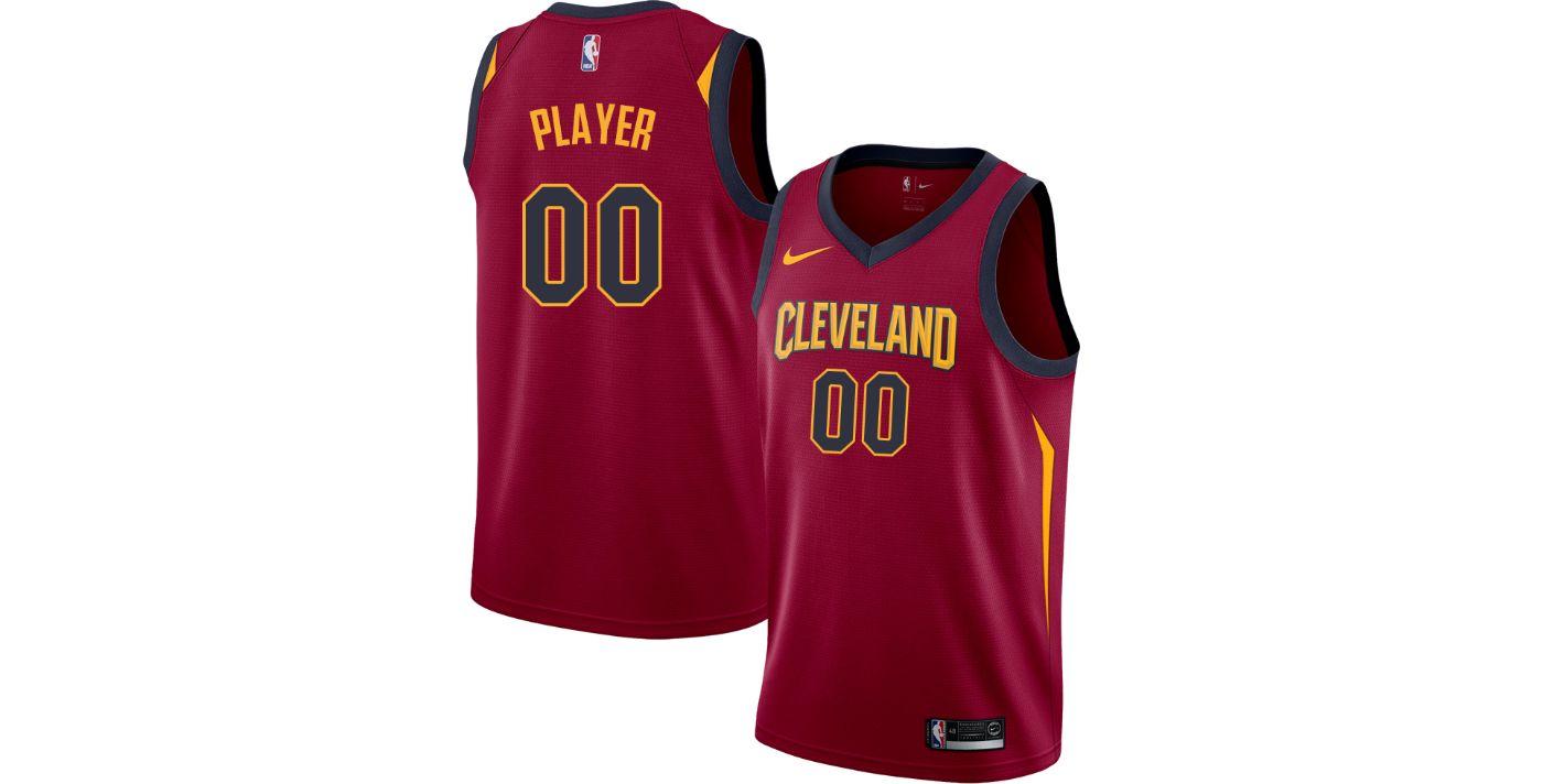 Nike Men's Full Roster Cleveland Cavaliers Red Dri-FIT Swingman Jersey