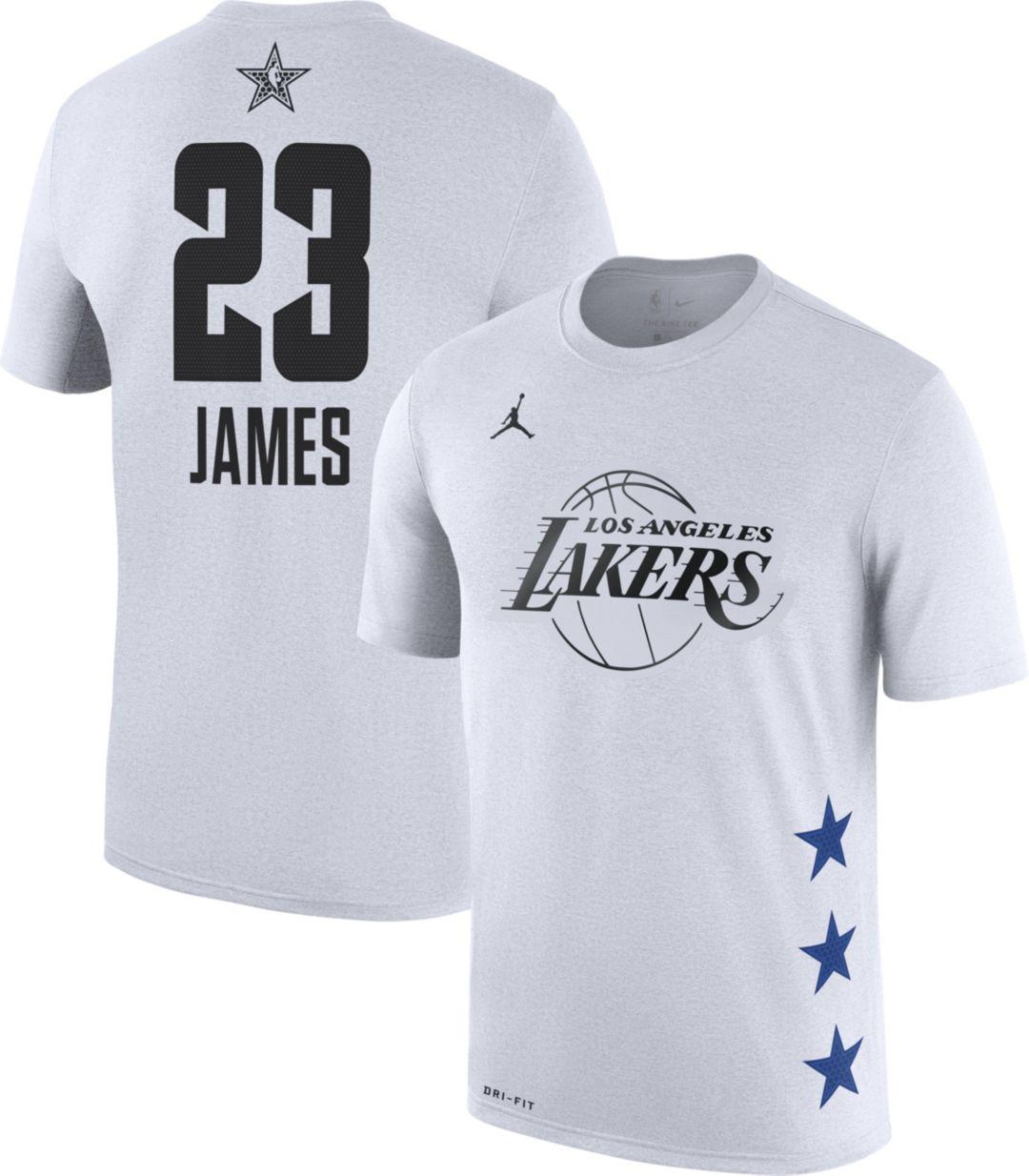 9015612fa49 Jordan Men's 2019 NBA All-Star Game LeBron James Dri-FIT White T ...