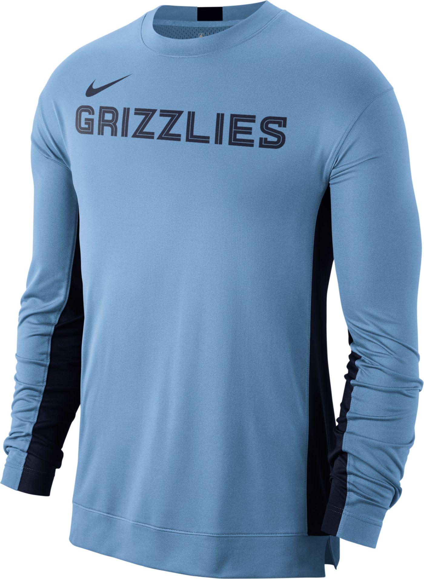 Nike Men's Memphis Grizzlies Dri-FIT Long Sleeve Shooting  Shirt